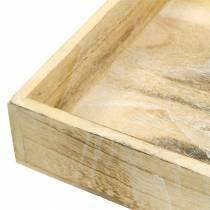 Firkantet trebrett, vasket hvitt 30 × 30 cm / 25 × 25 cm, sett med 2