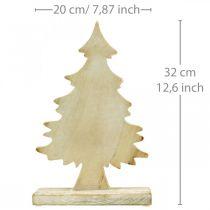 Deco Juletre tre hvitvasket borddekorasjon Advent 32 × 20 × 5,5 cm