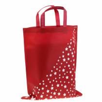 Bæreveske rød med stjerner 38cm x 46cm 24stk