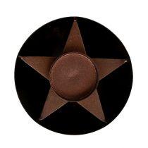Telysholder brun Ø10cm H4cm