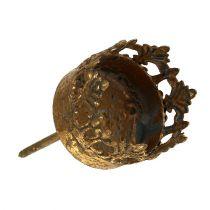 Telysholder gull antikk Ø3,8cm H9,5cm 1p
