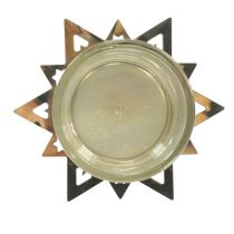 Telysholder stjerne gull 23,5cm 4stk
