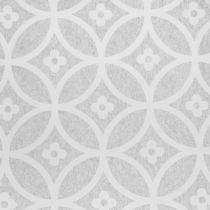 Tape fleece med mønster grå 30cm x 300cm