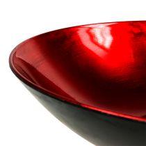 Borddekorasjonskål rød Ø28cm plast
