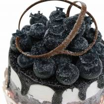 Dekorative tartlets blåbær matreplika 7cm