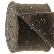 Pottehengsel filtbånd brun med prikker 15cm x 5m