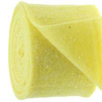 Pottehengsel filtbånd gul med prikker 15cm x 5m