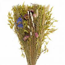 Tørket blomsterbukett naturrosa 45cm