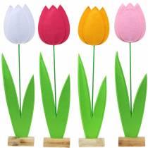 Følte blomster tulipan Ulike farger H88cm