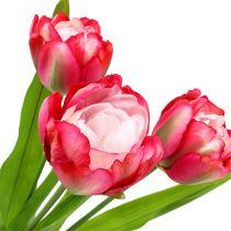 Kunstig tulipanrosa 60cm 3stk