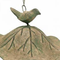 Fuglebad hengende metall fuglebad hage antikk utseende H28cm