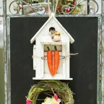 Fuglehus for å henge hvitt H25,5cm