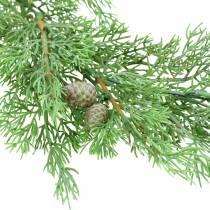 Dekorativ gren enebær med kjegler grønn 110cm