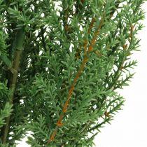 Enebærgren kunstig grønn dekorativ gren Jul 39cm 6stk