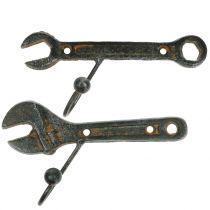 Veggkrokverktøy mørk brun 14cm 2stk