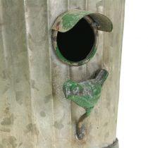 Dekorativt fuglehus for å henge antikkgrønt H26cm