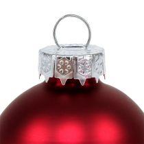 Julekule Ø4cm rød glans / matt 24stk