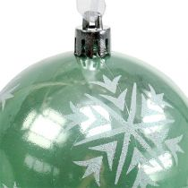 Julekule Ø8cm lysegrønn plast 1p