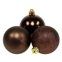 Julekuler sjokoladebrun blanding Ø6cm 10stk