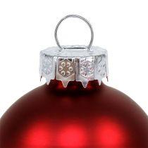 Julekuleglass Ø6cm rød blanding 24stk