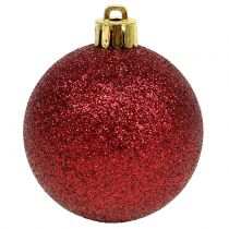 Julekule rubinrød blanding Ø6cm 10stk