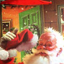 Julepose med nissen 32cm x26cm x10cm