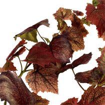 Vine blader krans mørk rød 190cm