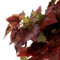 Vine blader henger grønn, mørk rød 100cm