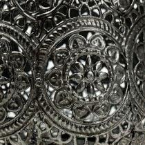 Lanterne sølv Ø12cm H13cm 1p