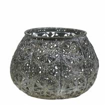 Lantern Orient Antikk sølv Ø13cm H9,5cm