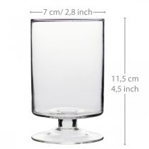 Orkanlykteglass Ø7cm H11,5cm 6stk