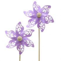 Vindmølle mini lilla Ø9cm 12stk