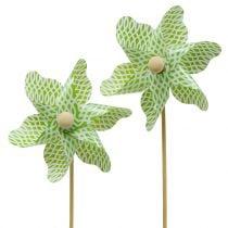 Vindmølle Mini Grønn-Hvit Ø9cm 12stk