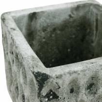 Plantegryte, keramisk kar, borddekorasjon antikk optikk H8cm 4stk