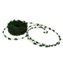 Cedar krans mini grønn med wire 27m