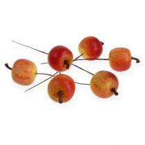 Kunstig eple 3cm på wire 24stk