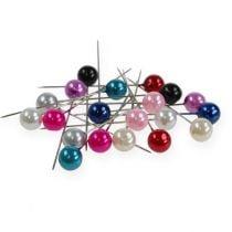 Perle nåler Ø10mm 60mm forskjellige farger