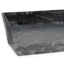 Dekorativt brett antrasitt 27cm x 12cm