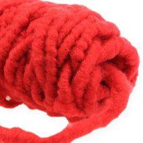 Filtsnor fleece Mirabell 25m rød