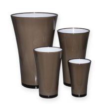 "Vase ""Fizzy"" platinagrå Ø13,5cm til ca. Ø28,5cm, 1 stk"