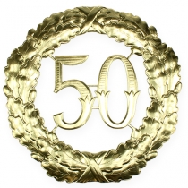 Jubileum nummer 50 i gull Ø40cm