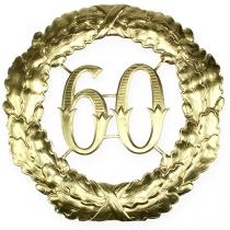 Jubileum nummer 60 i gull Ø40cm