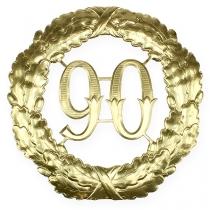Jubileum nummer 90 i gull Ø40cm