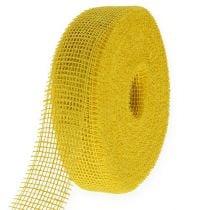 Jutebånd gul 5cm 40m