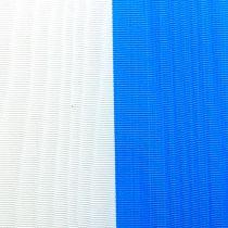 Kransebånd moiré blå-hvit