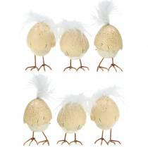 Kyllinger i eggeskallet hvitt, krem 6cm 6stk