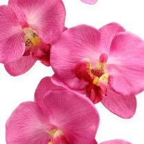 Kunstig orkide med blader Rosa 68cm
