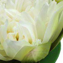 Kunstig lotusblomstkrem 13cm 4stk
