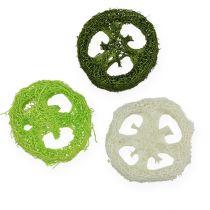 Luffa skiver assortert Grønn, hvit 5-7,5cm 24stk