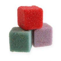 Våt blomsterskum mini-kube farget 300stk